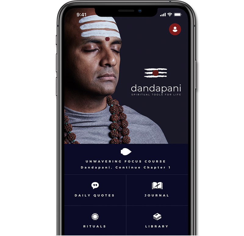 app screen 1 - Dandapani - Hindu priest, speaker and entrepreneur