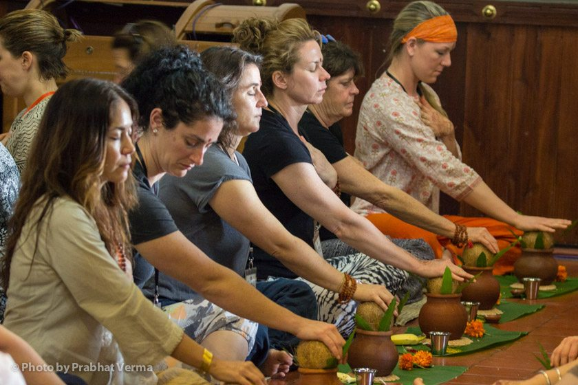 For almost everyone in the group it was their first experience of learning a traditional Hindu worship ceremony.