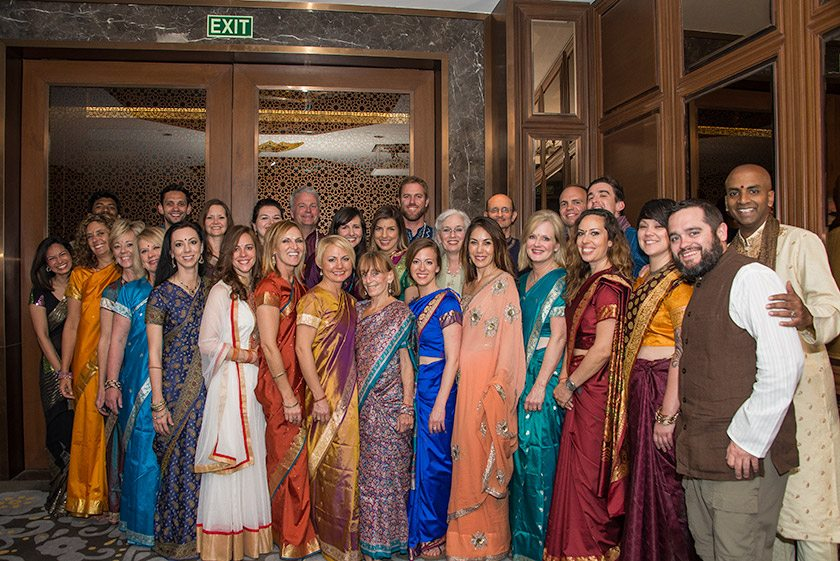 Group photo on the final day of our North Indian spiritual adventure in January. New Delhi, India.